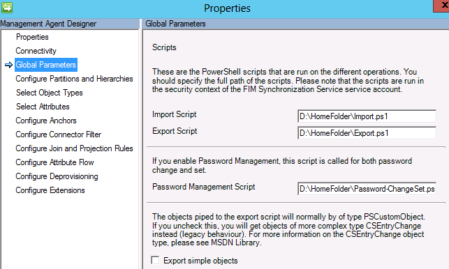 Global Parameters for PowerShell MA 4.5