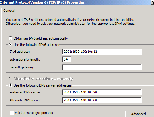 Internal IPv6 Address on UAG